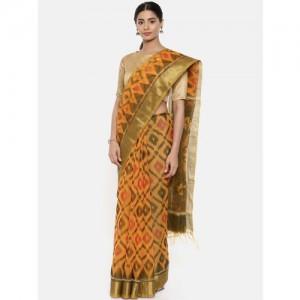 The Chennai Silks Yellow Silk Cotton Woven Design Narayan Peth Saree