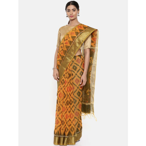 The Chennai Silks Yellow Silk Cotton Woven Design Narayan Peth Saree