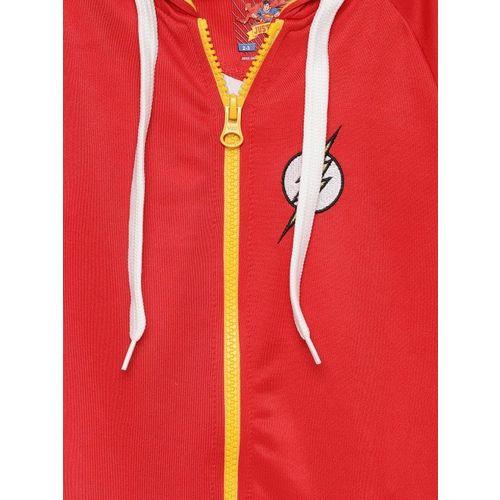 Allen Solly Junior Boys Red Printed Hooded Sweatshirt