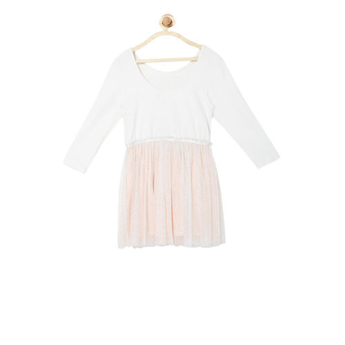 Allen Solly Junior Allen Solly White Embellished Dress