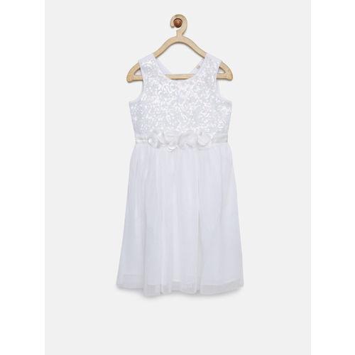 Allen Solly Junior White Dress