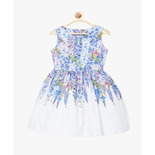 00d288e8fa Buy Solly By Allen Solly Kids Blue & White Printed Dress online ...
