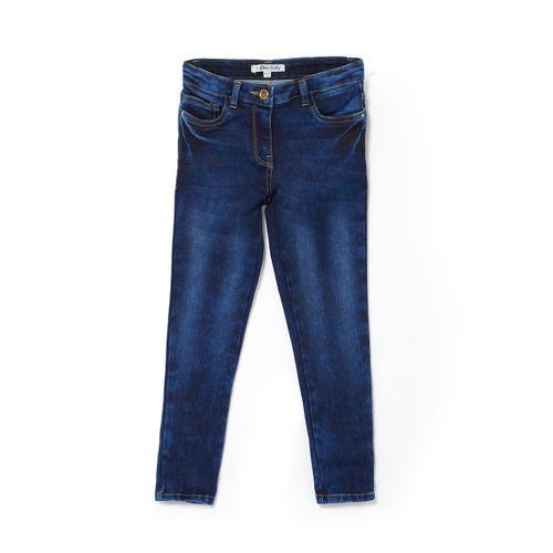 Allen Solly Junior Girls Blue Slim Fit Mid-Rise Clean Look Jeans