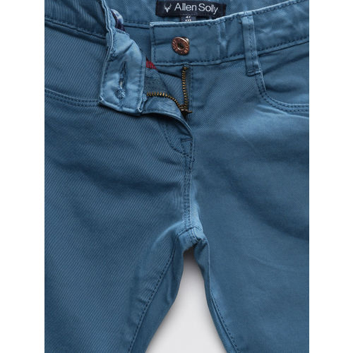 Allen Solly Junior Girls Blue Stretchable Jeans