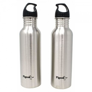 Pigeon Silver Stainless Steel Water Bottle, 750ml (Set of 1)