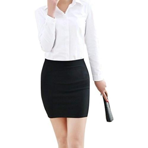 Magna Black Pencil Mini Skirt - MAG3_Black_Small