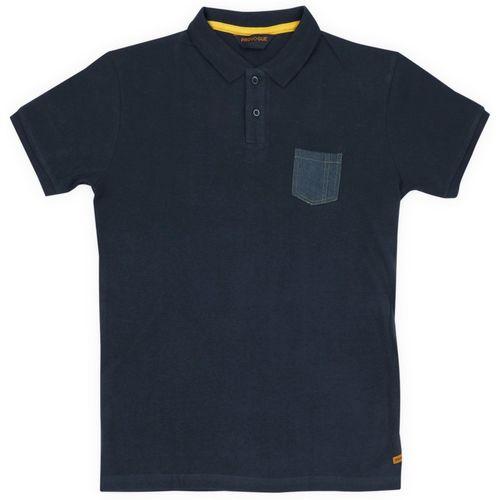 Provogue Boy's Solid Cotton T Shirt(Blue, Pack of 1)
