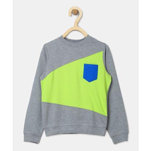 Provogue Full Sleeve Colorblock Boys Sweatshirt