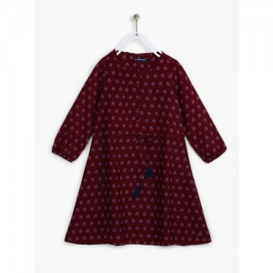 Allen Solly Junior Maroon Casual Dress