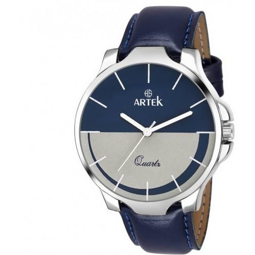 Artek Round Dial Blue Leather Strap Analog Watch For Men