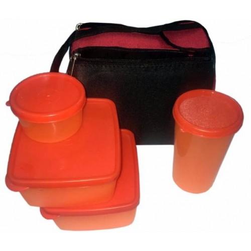 Buy Topware Plastic Lunch Box Orange No  of Pieces 4 online