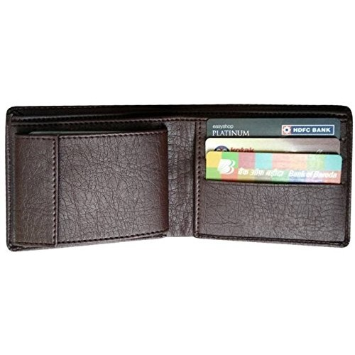 29K Brown Men's Bi-Fold Wallet (Synthetic leather/Rexine)