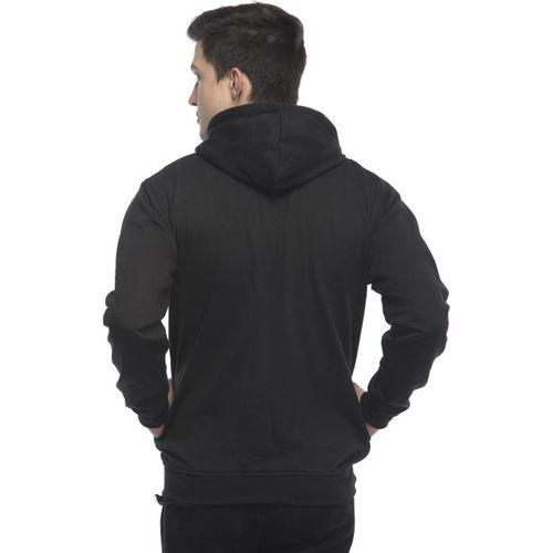 Lambency Men's Black Hooded Sweatshirts