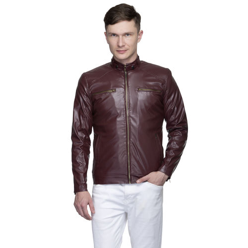 4230ea220 Buy Lambency Men's Maroon Jackets online | Looksgud.in