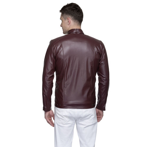 Lambency Men's Maroon Jackets