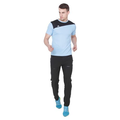 Adidas Black Polyester Lycra Trackpant