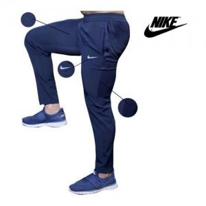 Nike Navy Polyester Lycra Track pants