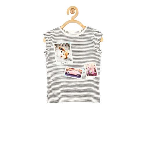 6424cb339 Buy Allen Solly Junior Girls White Striped Round Neck T-shirt online ...
