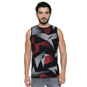 2b550f16ae175 Cult Fiction Black Cotton Fabric Sleeveless T-Shirt For Men S