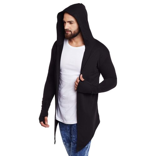 PAUSE Men's Black Hooded Sweatshirt
