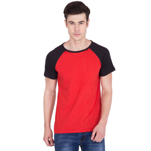 4fe89556686e9 Buy Pause PAUSE Red Solid Cotton Round Neck Slim Fit Short Sleeve Men s T-Shirt  online