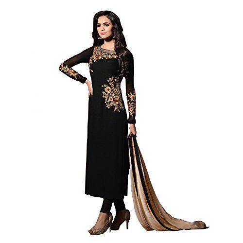 bec66153af6d ... Ap Enterprise Women Faux Georgette Anarkali Semi-Stitched Salwar Suit  (ERTY10775BlackFree Size) ...