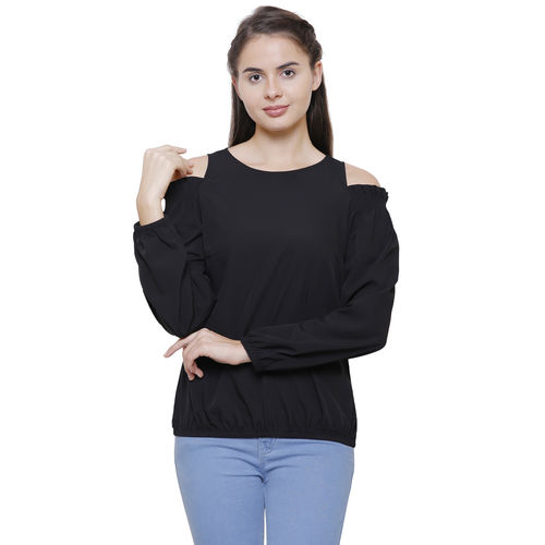 f833a830f90699 ... Bodyneeds Women Western Wear Cold Shoulder Tops With Long Sleeve (Black  Color) ...