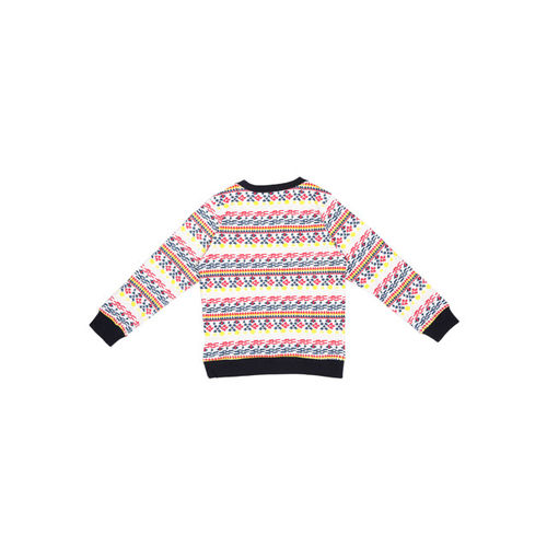 Allen Solly Junior Girls White & Red Printed Sweatshirt
