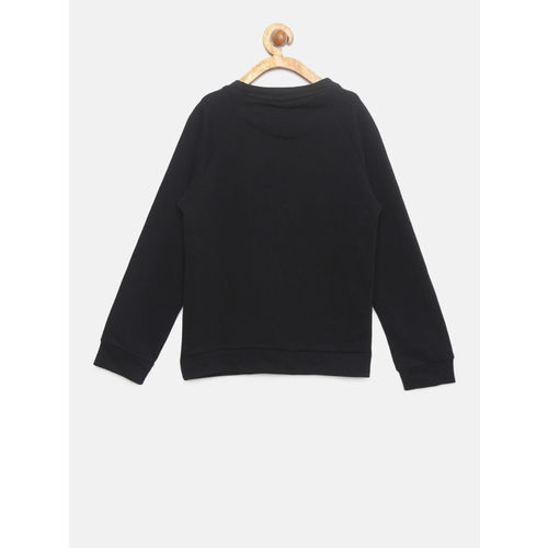 Allen Solly Junior Girls Black Embellished Sweatshirt