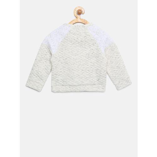 Allen Solly Junior Girls Grey Solid Sweatshirt