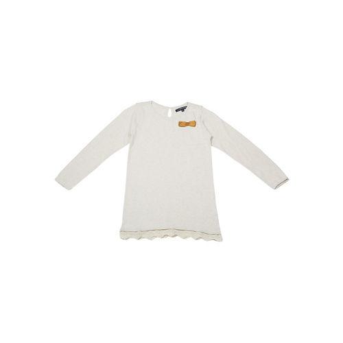Allen Solly Junior Girls Beige Solid Pullover