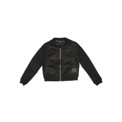 Allen Solly Junior Girls Black Cut-Out Bomber