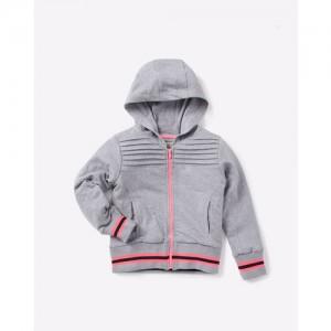 AJIO Textured Panelled Sweatshirt with Hood