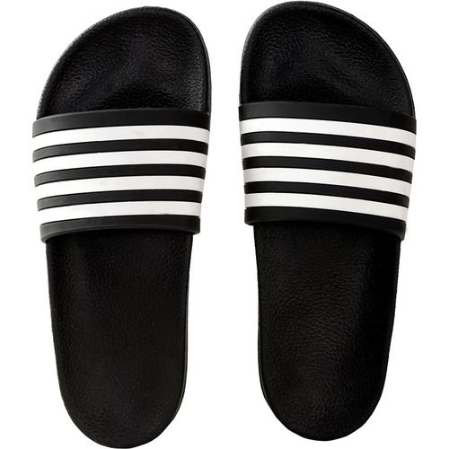 Zappy Men Black White Slippers