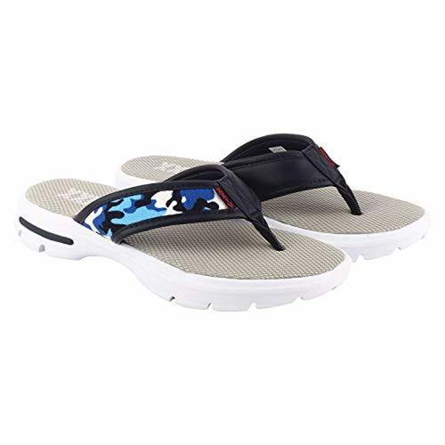 ca35d566b09b Buy KazarMax XXIV Mens' Army Blue Memory Foam Slippers online ...
