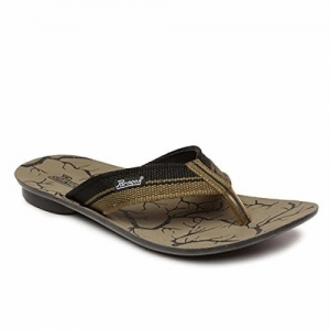 PARAGON Tan Synthetic Leather Slip On Chappals