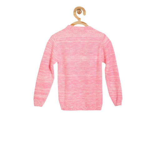 Allen Solly Junior Girls Pink Embellished Pullover