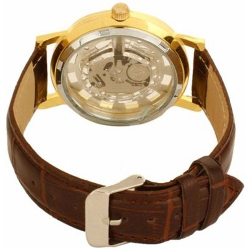 Sai Enterprises Round Dail Brown Leather StrapMens Quartz Watch For Men