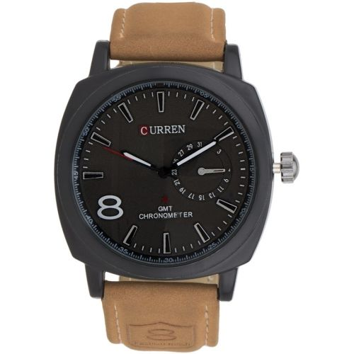 Curren.A.8139 Brown Round Analog Watch