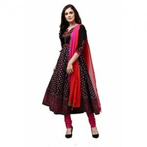 Rain & Rainbow Rain and Rainbow Women's Anarkali Cotton Salwar Suit (Pack of 3)