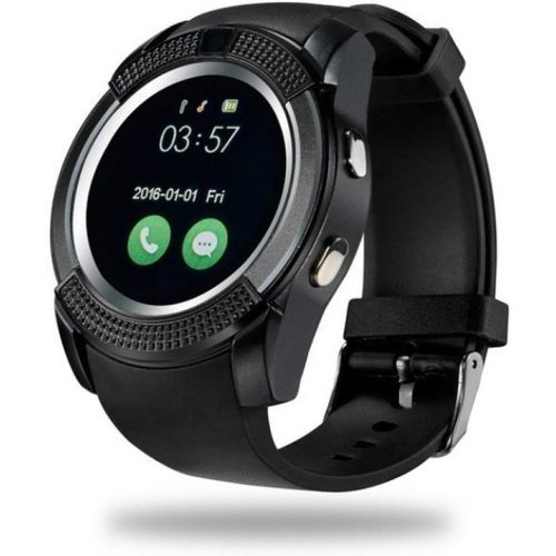 Liddu V8 Touch Screen Bluetooth Mobile Phone Wrist Watch With Camera/Sim