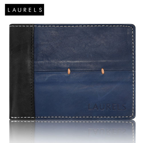 Laurels Bloke Blue Color Men'S Wallet (LW-BLK-0302) (Synthetic leather/Rexine)