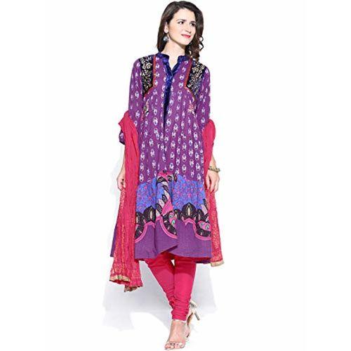 5556ef74a1 ... Suit Set; Rain & Rainbow Rain And Rainbow Women's Cotton Anarkali Salwar  ...
