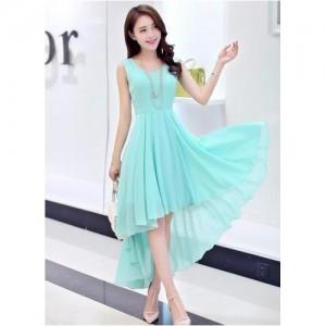 Westrobe Womens Light Blue Western Designer Long Dress