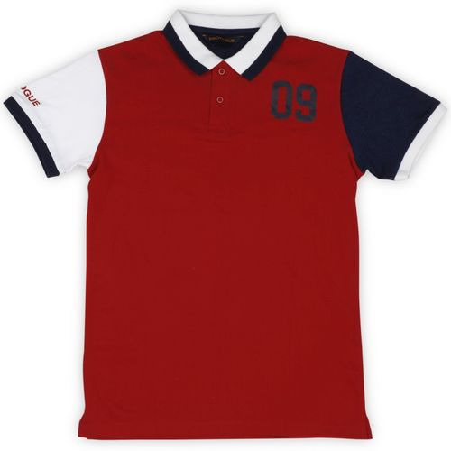 Provogue Boys Solid Cotton T Shirt(Red, Pack of 1)
