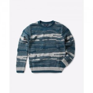AJIO Textured Sweater with Ribbed Hems