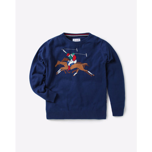 USPA Crew-Neck Sweater with Placement Print