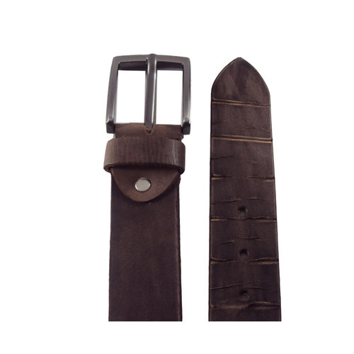National Leathers Brown Antic Casual Belt For Men's
