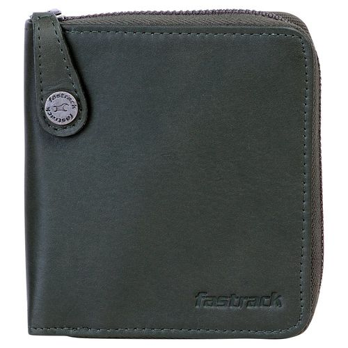 Fastrack Green Leather Unisex Wallet