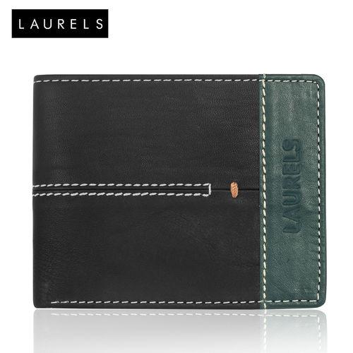 Laurels Green Leatherite Bi-fold Wallets for Men (Synthetic leather/Rexine)